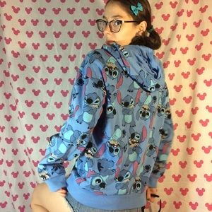 Disney Tops - LILO & Stitch Zip Up Hoodie Jacket NWOT